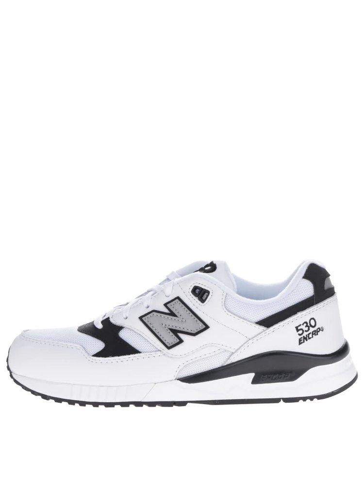 Černo-bílé pánské kožené tenisky New Balance