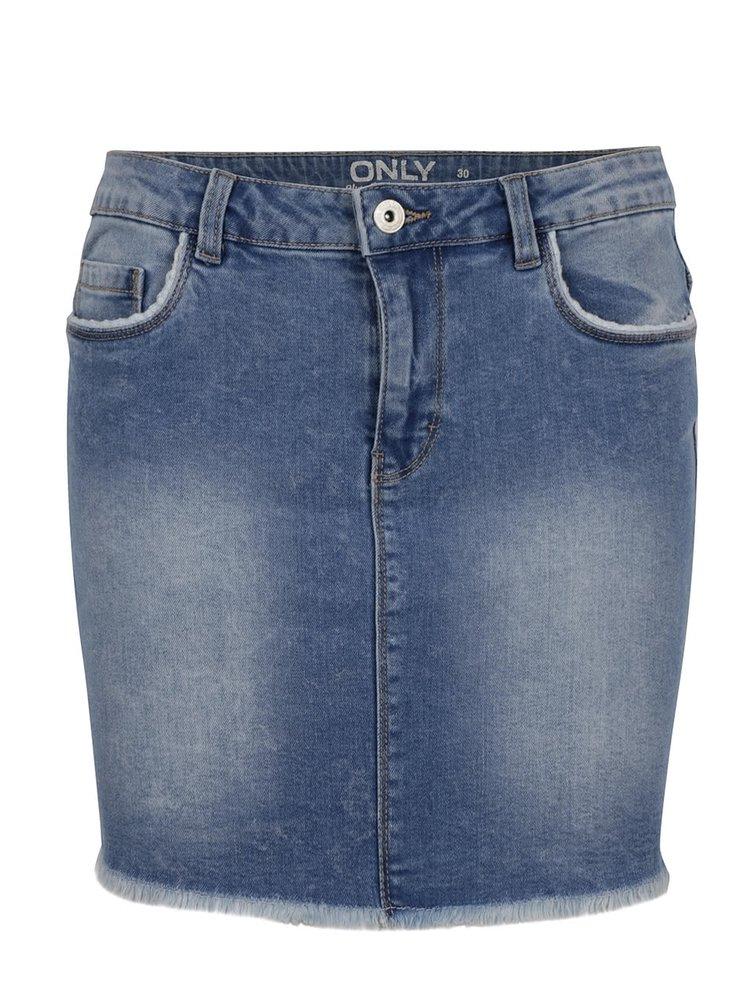 Světle modrá džínová sukně ONLY Phoebe