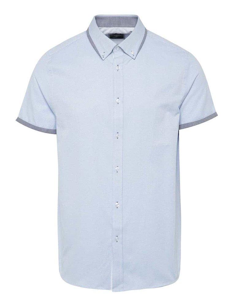 Cămașă albastru deschis Burton Menswear London cu model pepit