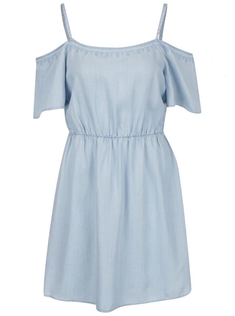 Rochie albastru deschis VERO MODA Zoe cu mâneci căzute