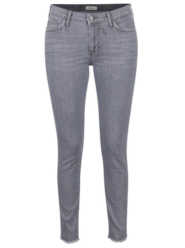 Šedé džíny s roztřepenými lemy Rich & Royal