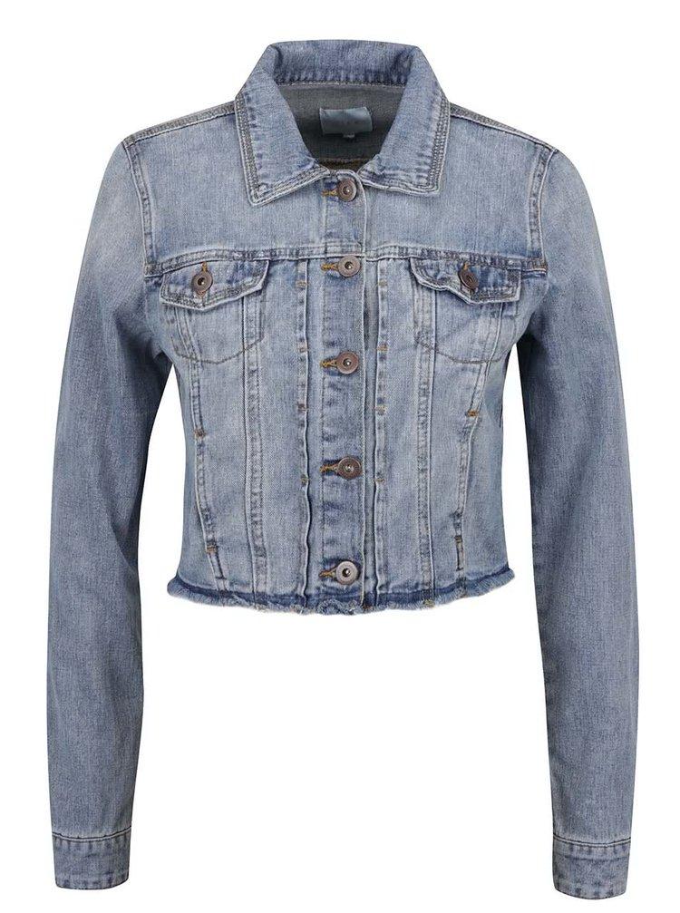 Jachetă scurtă albastră VILA Plenty din denim