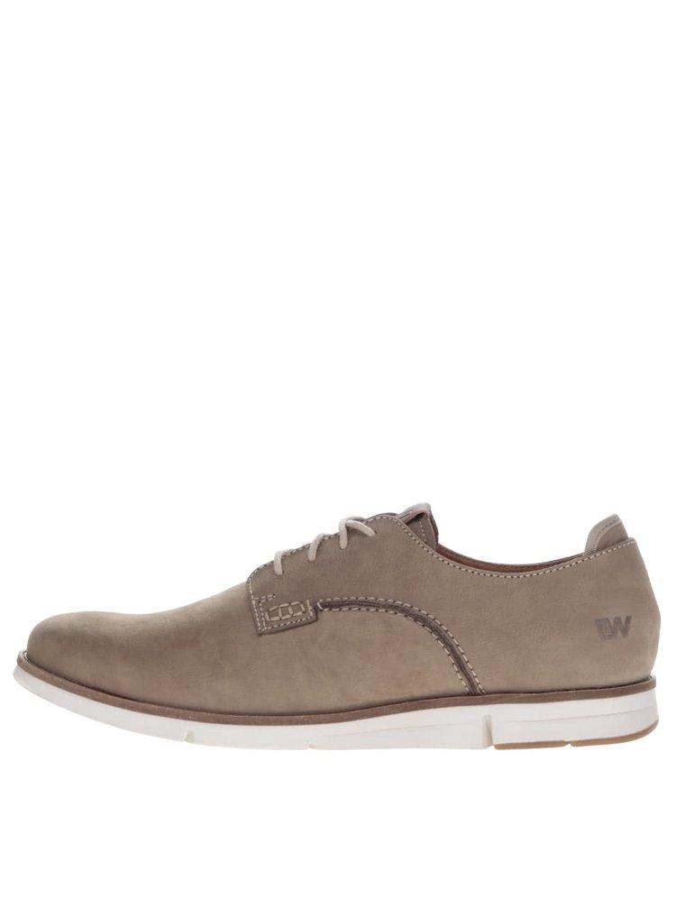 Pantofi bej pentru bărbați Weinbrenner din piele naturală