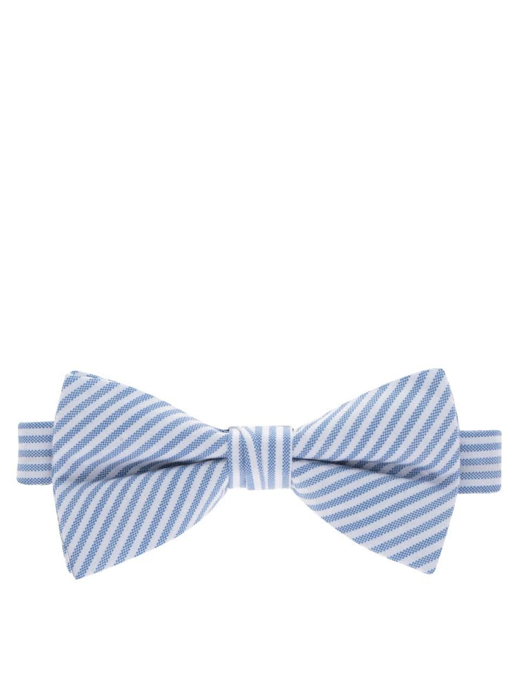 Papion alb & albastru  Selected Homme Norman din bumbac