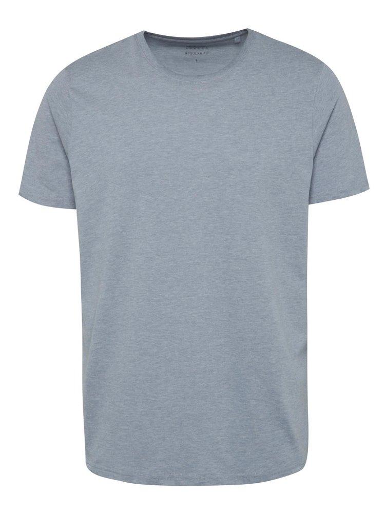 Tricou albastru melanj deschis Burton Menswear London