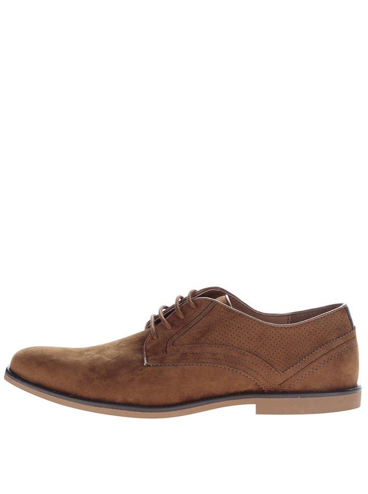 Pantofi maro Burton Menswear London