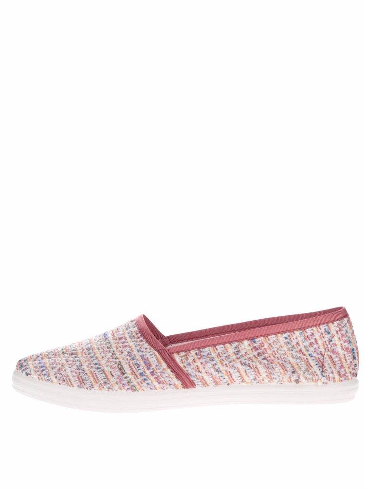 Růžové dámské vzorované loafers OJJU