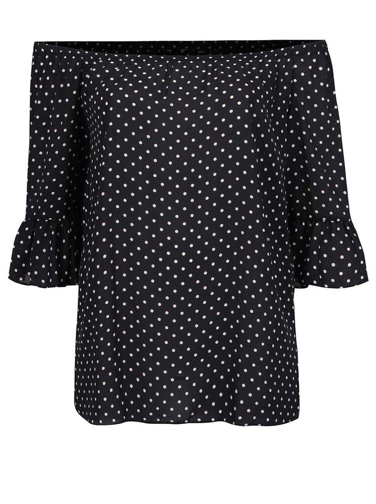 Bluză neagră Dorothy Perkins Curve cu decolteu pe umeri
