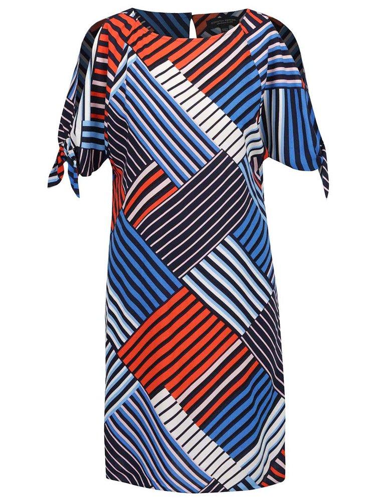 Červeno-modré pruhované šaty Dorothy Perkins