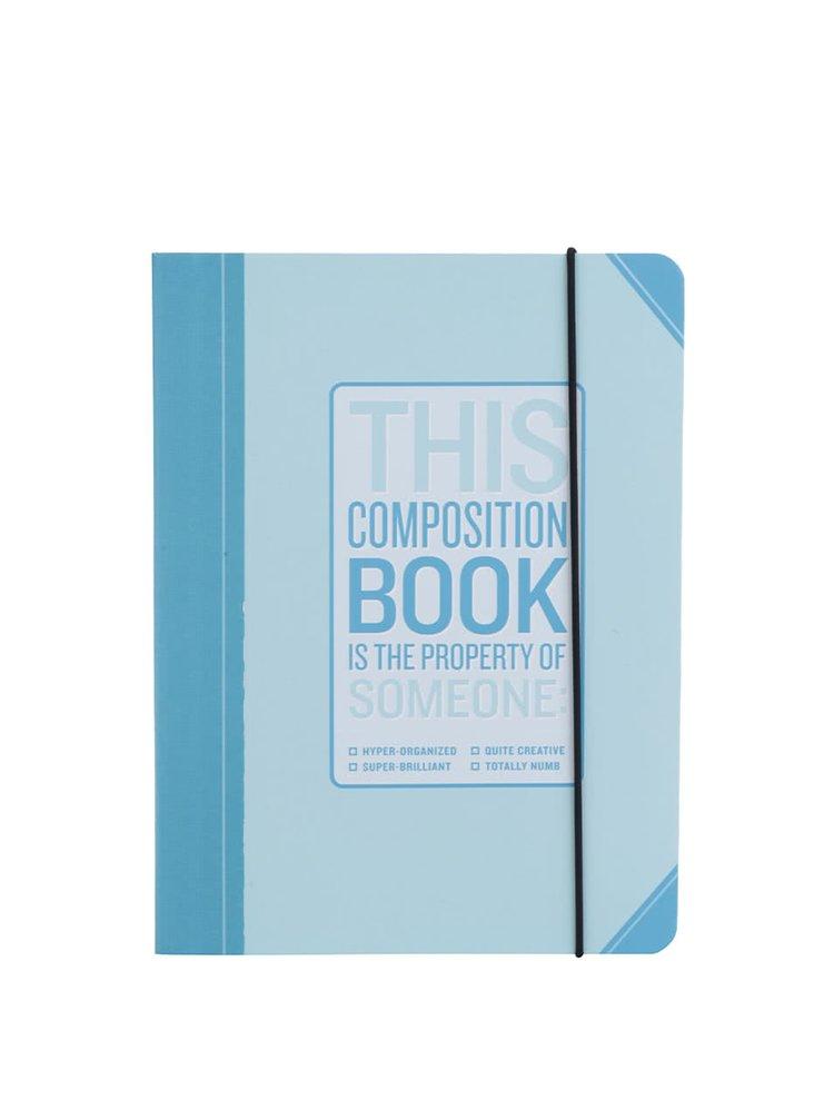 Modrý plánovací zápisník Knock Knock A4