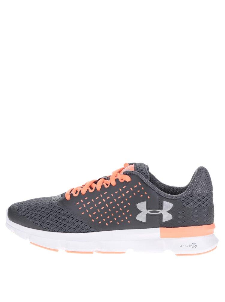 Oranžovo-šedé dámské tenisky Under Armour UA W Micro G Speed Swift 2