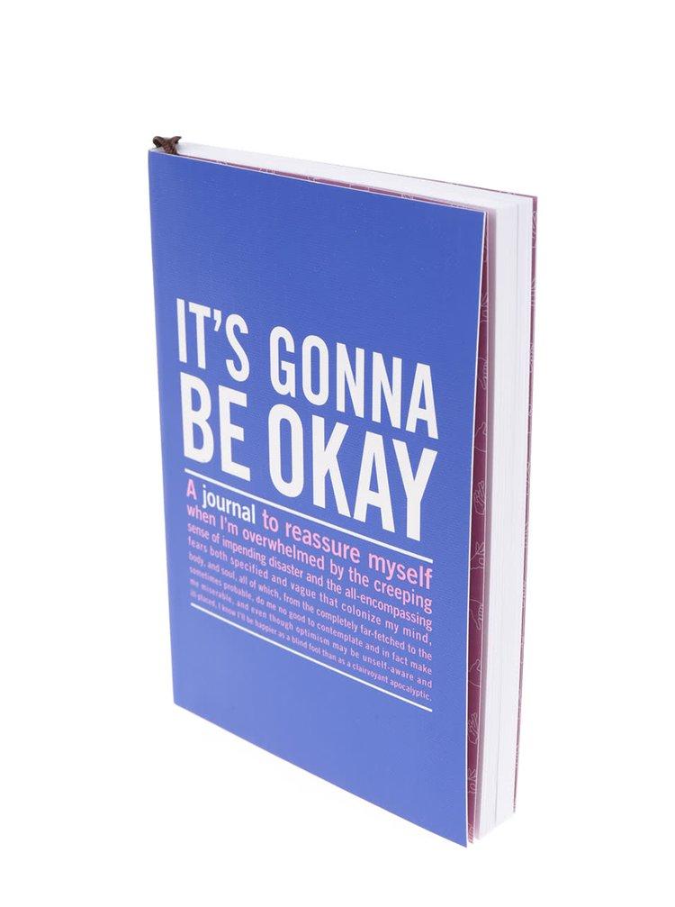 Tmavě modrý zápisník s citáty pro pozitivní myšlení Knock Knock A6