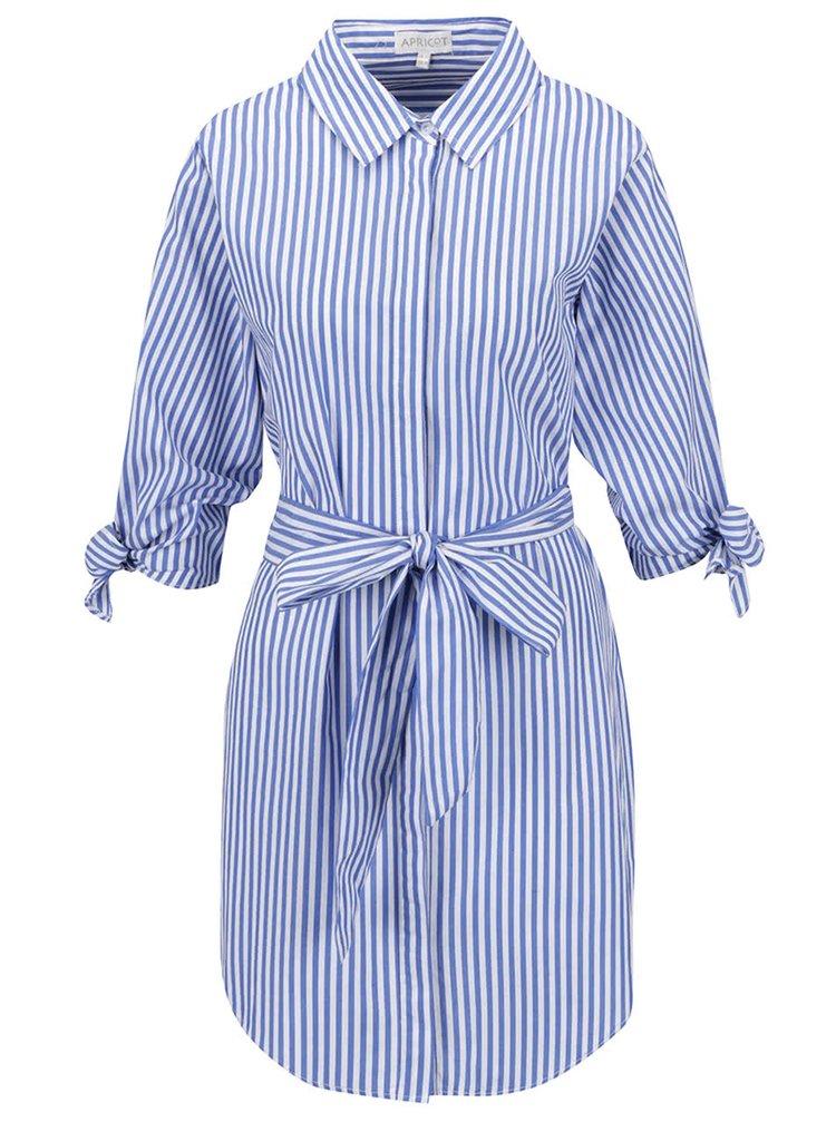 Modré pruhované šaty Apricot