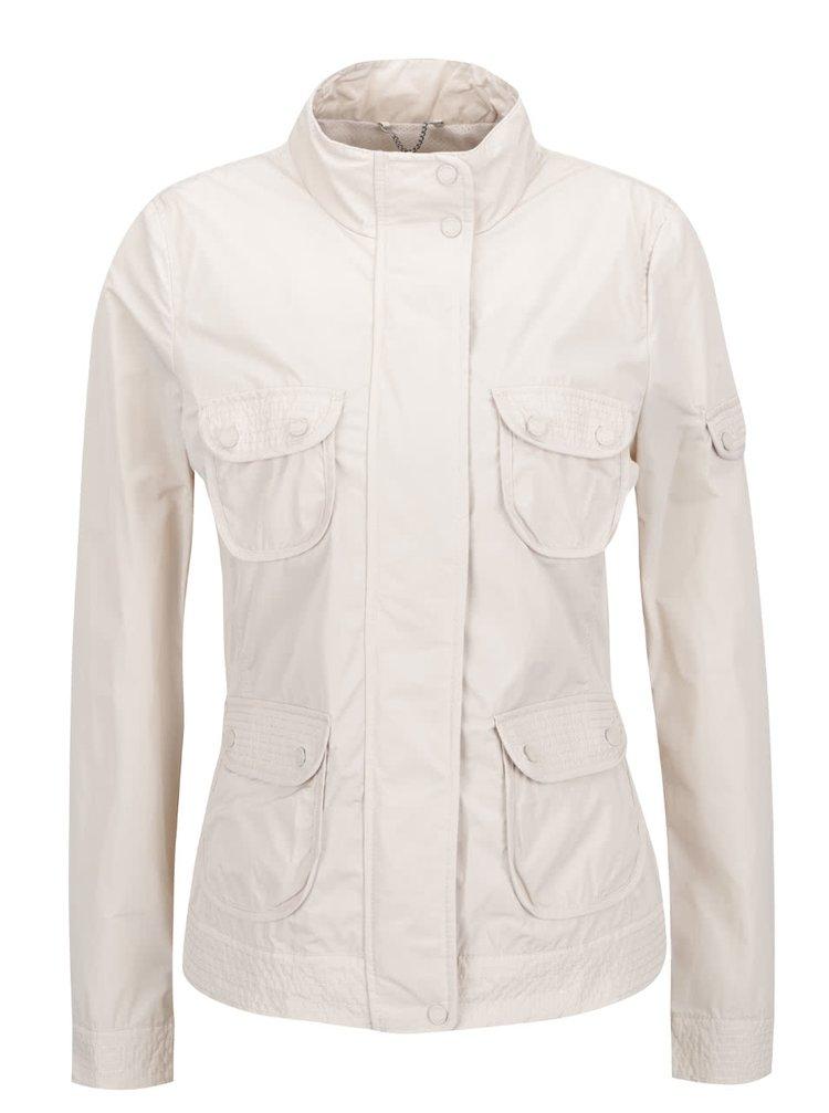 Krémová dámská lehká bunda s kapsami Geox
