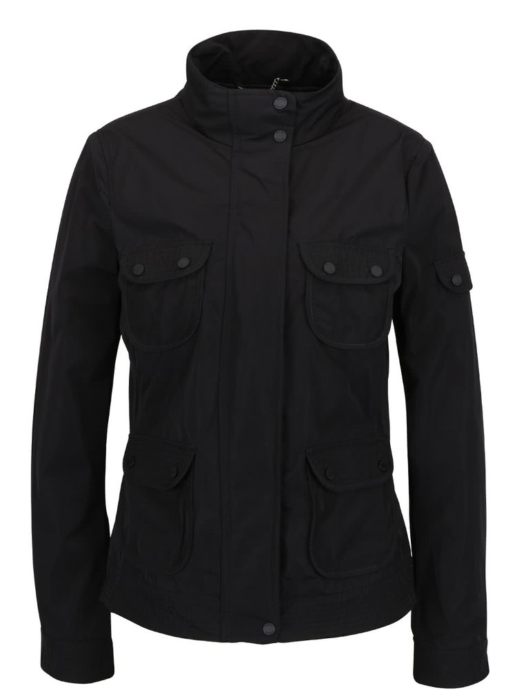Černá dámská lehká bunda s kapsami Geox