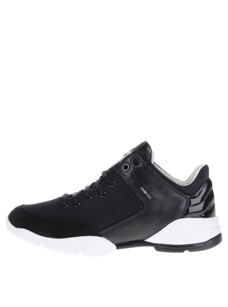 Pantofi sport negru & crem Geox Sfinge