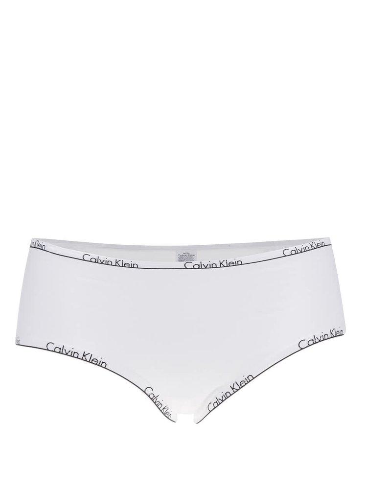 Boxeri albi cu print logo Calvin Klein
