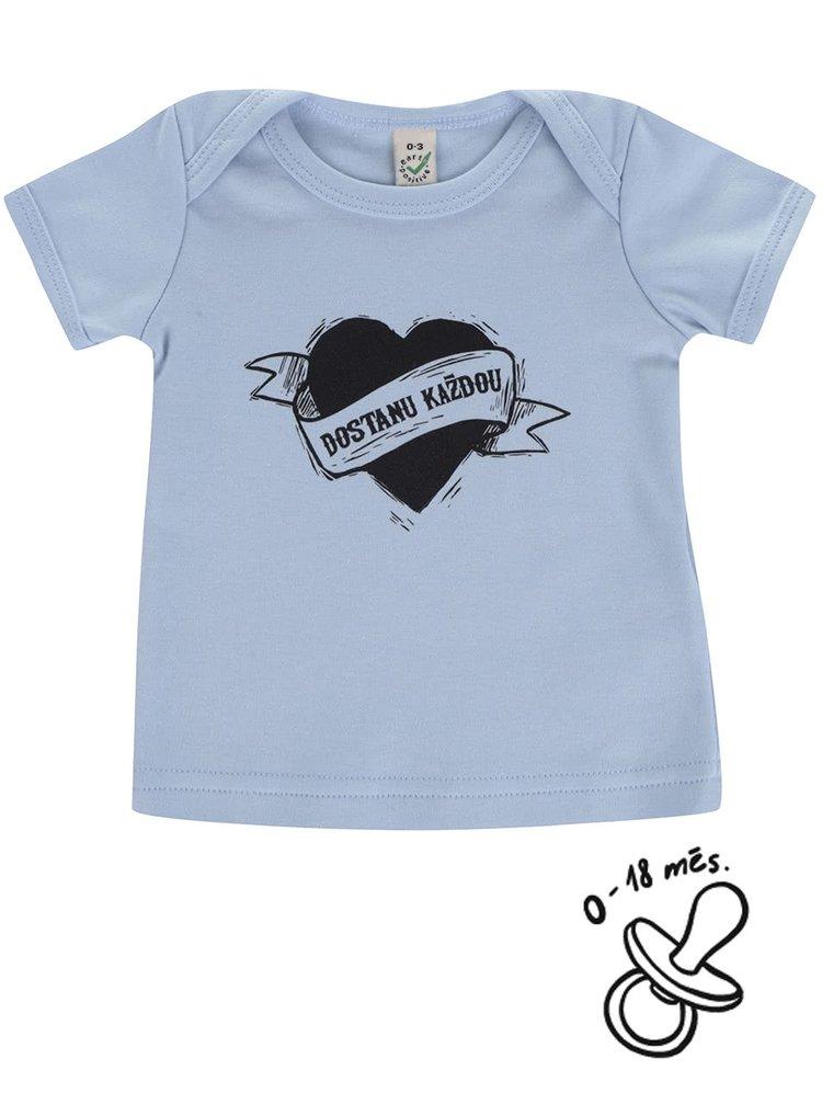 Modré klučičí kojenecké triko ZOOT Kids Dostanu každou