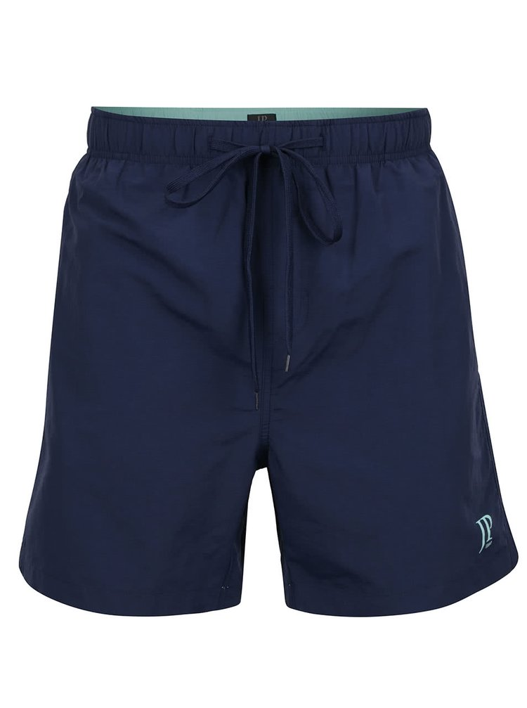 Pantaloni scurți albaștri pentru baie JP 1880 cu logo și talie elastică