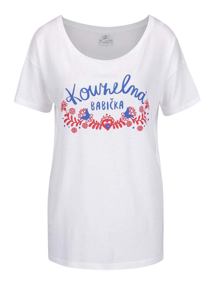 Bílé dámské tričko ZOOT Originál Kouzelná babička