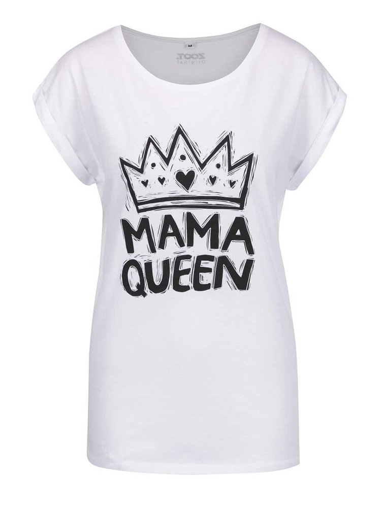 Tricou alb ZOOT Originál Mama queen cu print