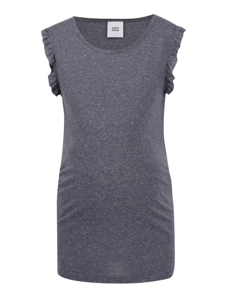 Šedé žíhané těhotenské tričko Mama.licious Zana