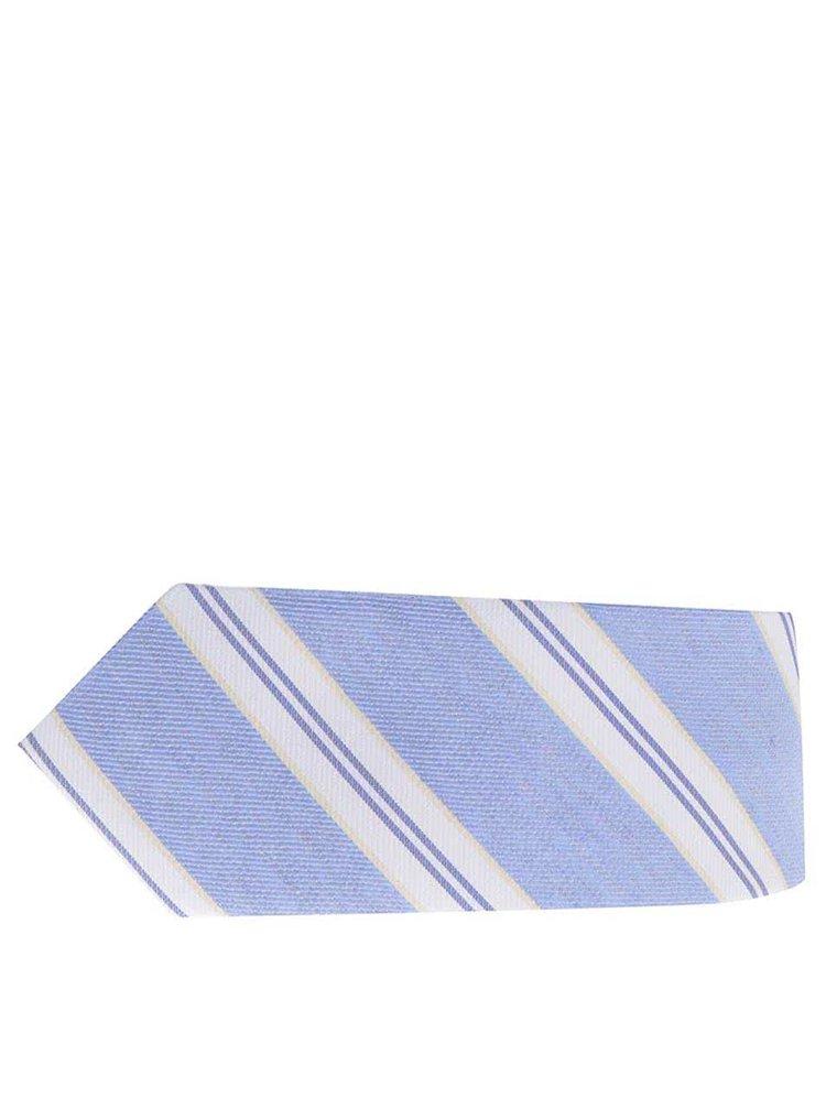 Cravată albastră Selected Homme Neal cu model în dungi
