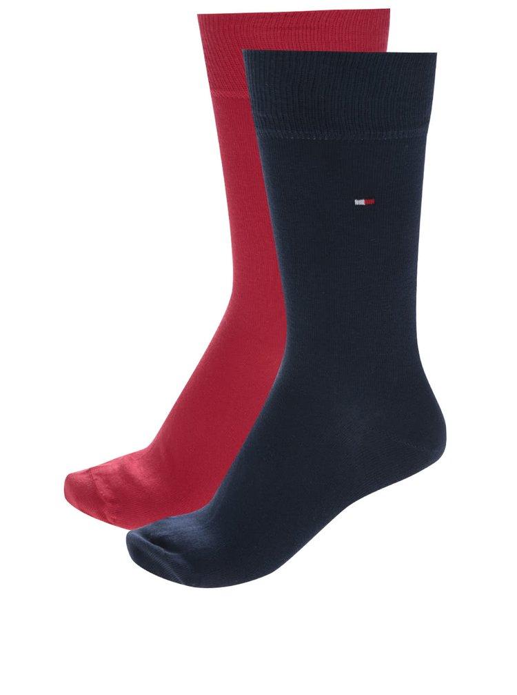 Sada dvou párů pánských ponožek v modré a červené barvě Tommy Hilfiger