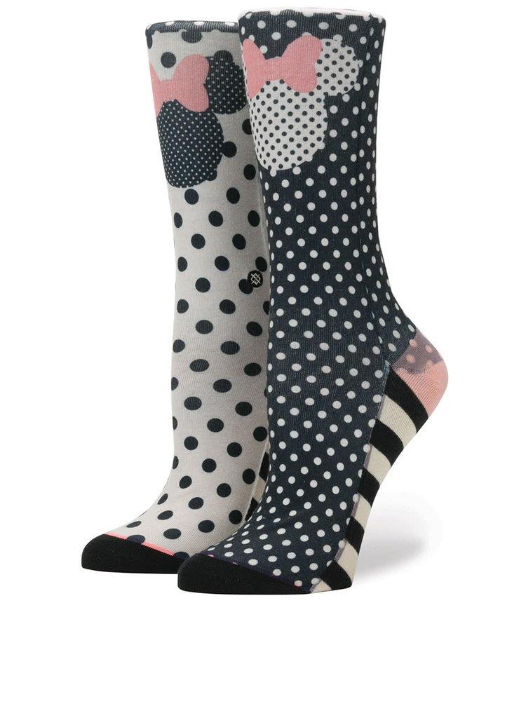 Modro-béžové dámske ponožky Stance Sprinkled Minnie