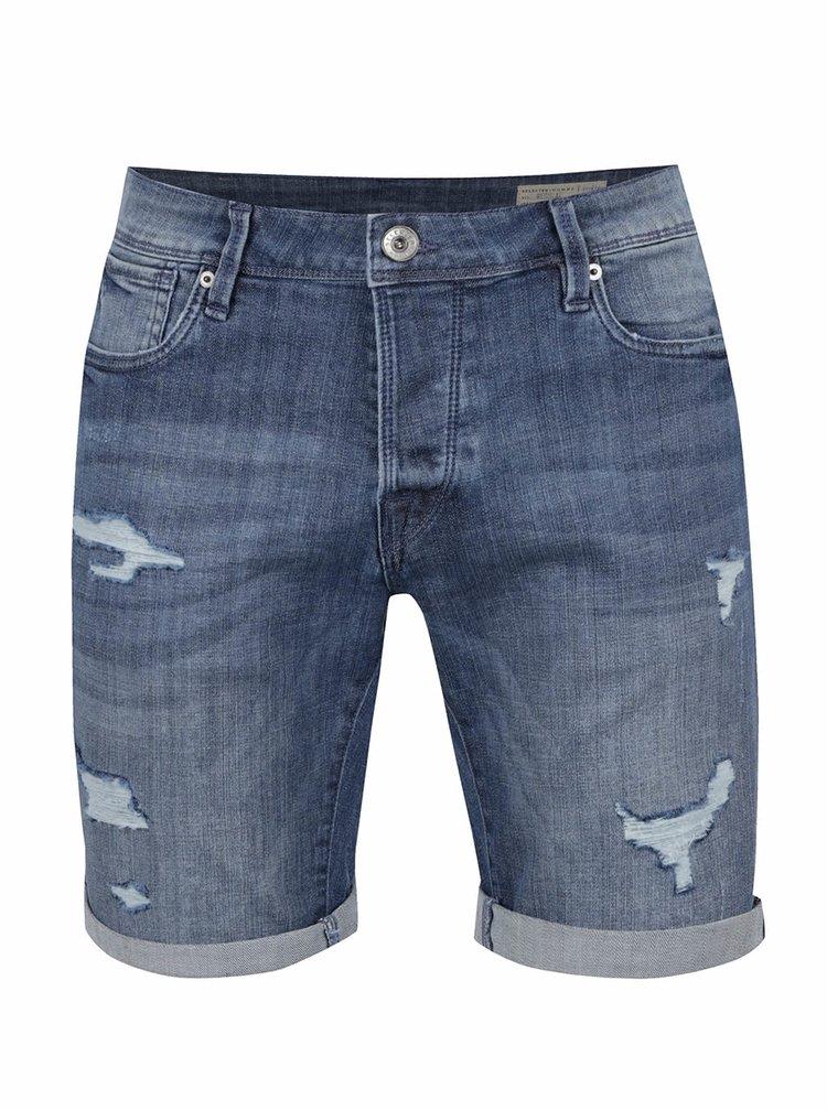 Pantaloni scurți albaștri Selected Homme Alex din denim