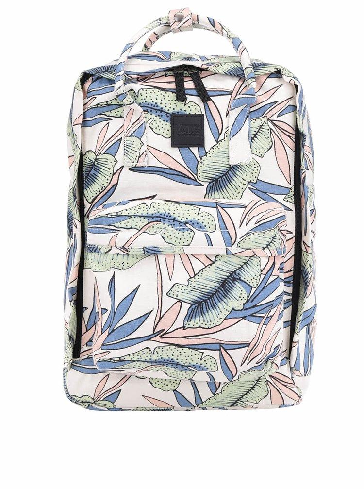 Krémový vzorovaný dámský batoh VANS Icono