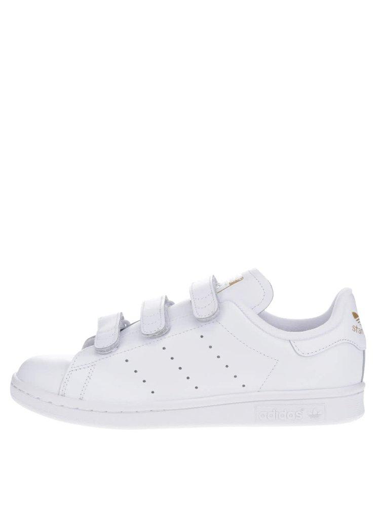 Bílé dámské kožené tenisky s detaily adidas Originals Stan Smith