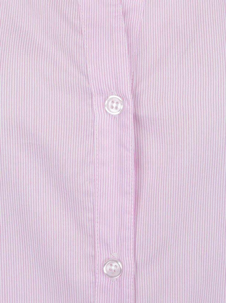 ... Světle růžová pruhovaná košile bez límečku ZOOT 6e151ca610
