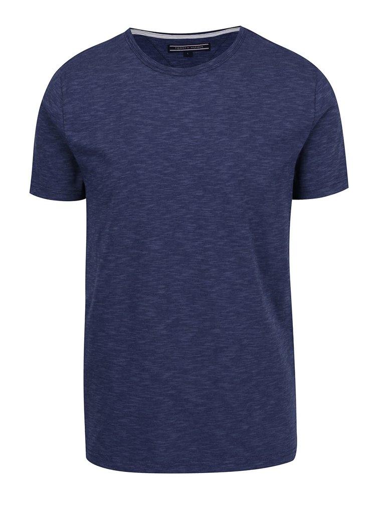Modré pánské žíhané triko Tommy Hilfiger