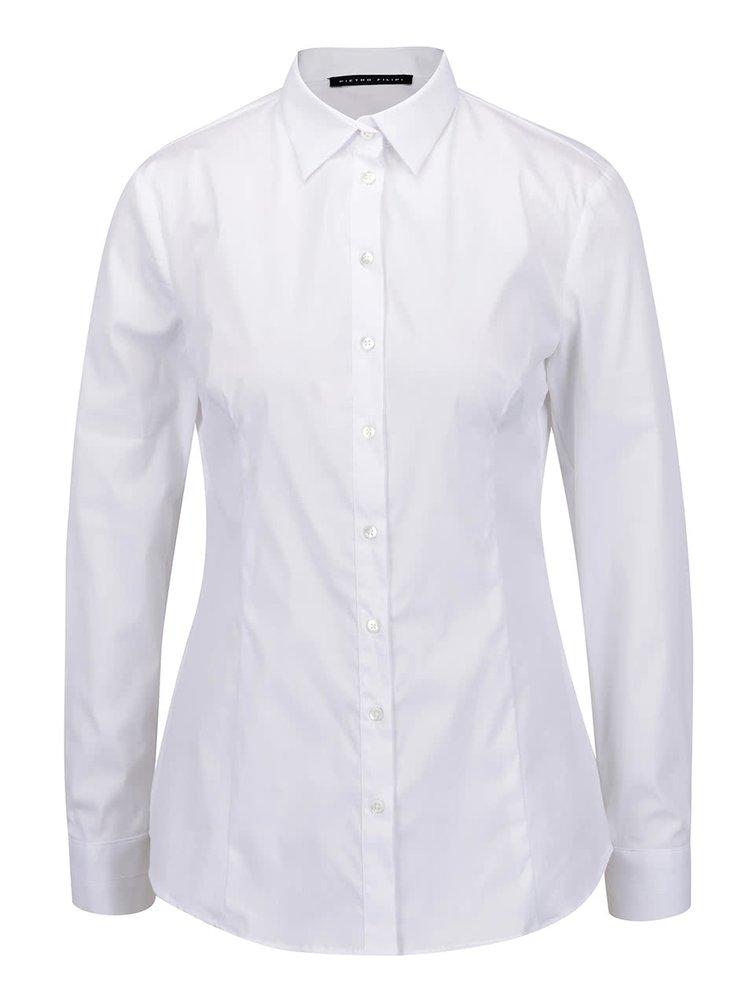 5ccd21ffacc1 ... Biela dámska košeľa s dlhým rukávom Pietro Filipi