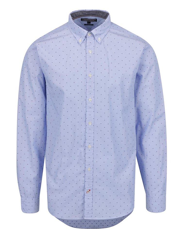 Modrá vzorovaná pánská košile Tommy Hilfiger