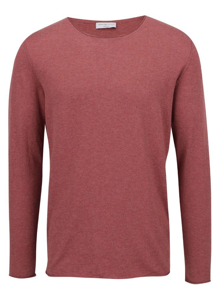 Vínové tričko s příměsí hedvábí Selected Homme Dome