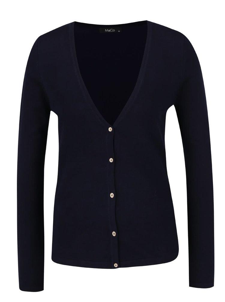 Tmavě modrý dámský cardigan M&Co
