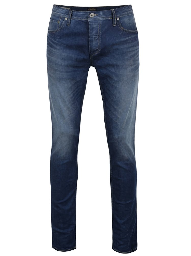 Pantaloni albaștri  Jack & Jones Tim Original din denim