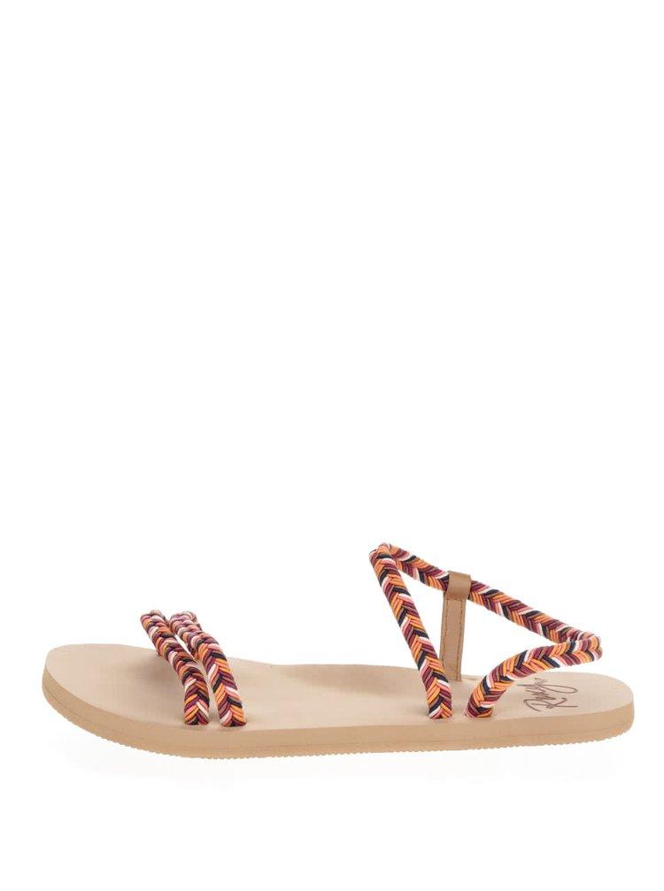 Hnědo-oranžové sandály Roxy Luana