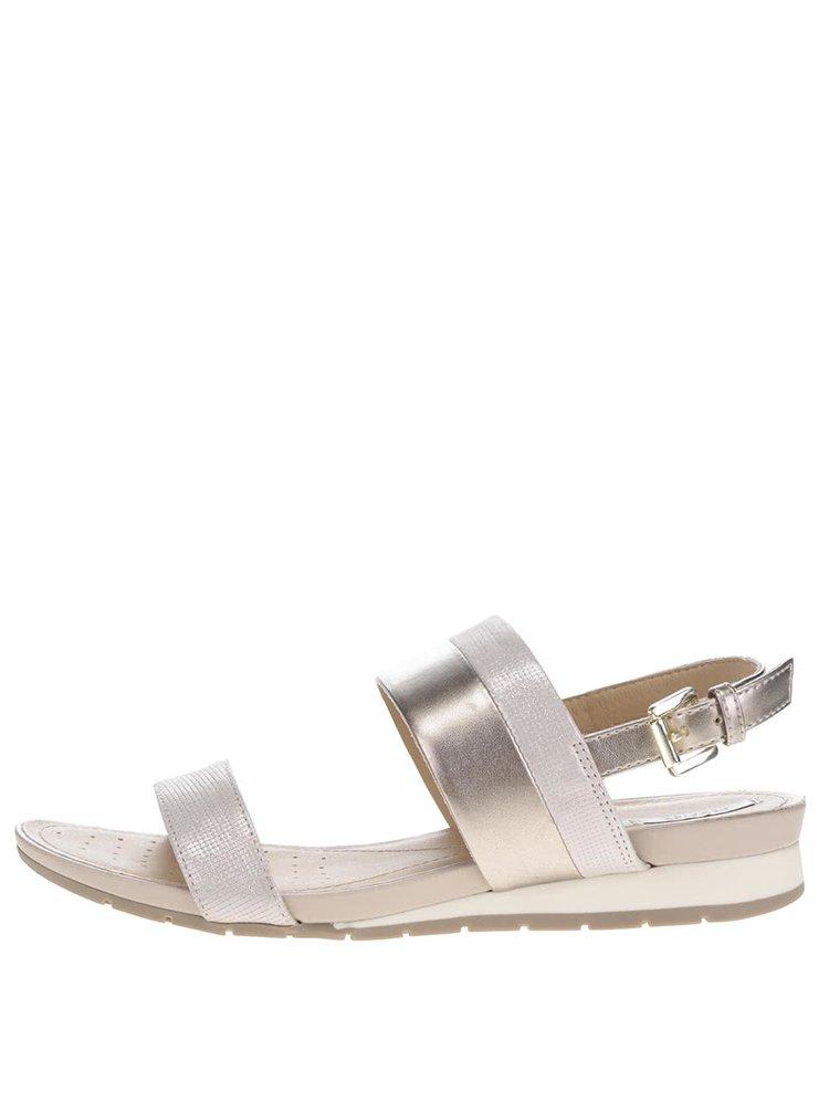 Sandale bej Geox Formosa din piele