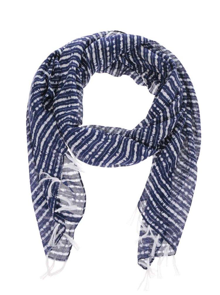 Krémovo-modrý vzorovaný šátek Roxy Really Better