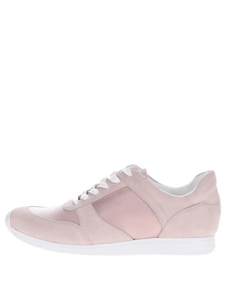 Pantofi sport roz Vagabond Kasai cu detalii din piele intoarsa