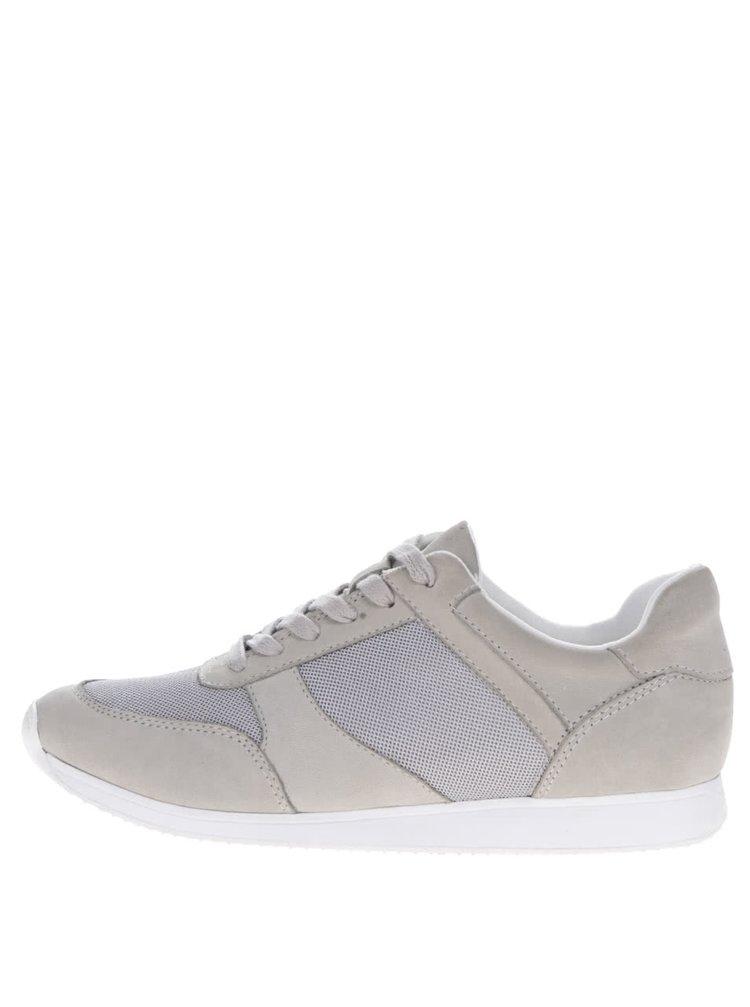 Pantofi sport gri Vagabond Kasai cu detalii din piele întoarsă