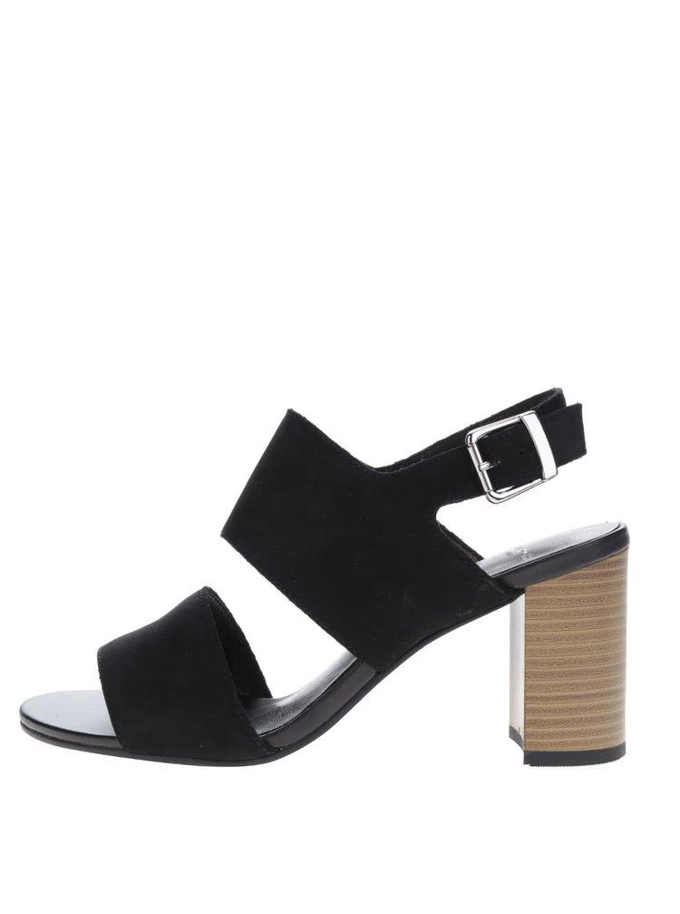 Černé semišové sandálky Vagabond Beatriz