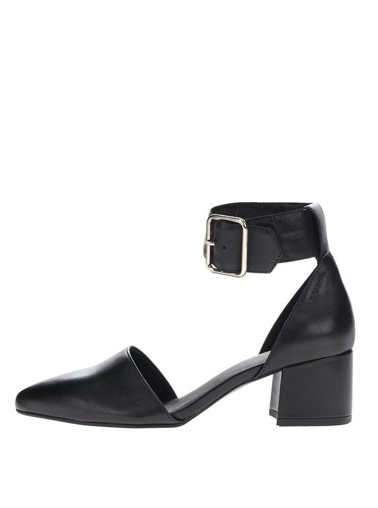 Černé sandálky na podpatku Vagabond Mya