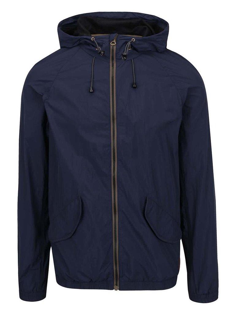 Jachetă albastră Jack&Jones Wings cu glugă