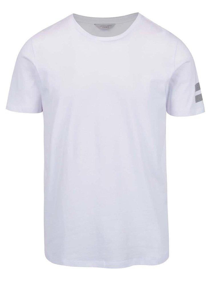 Tricou alb Jack&Jones Elke cu imprimeu text