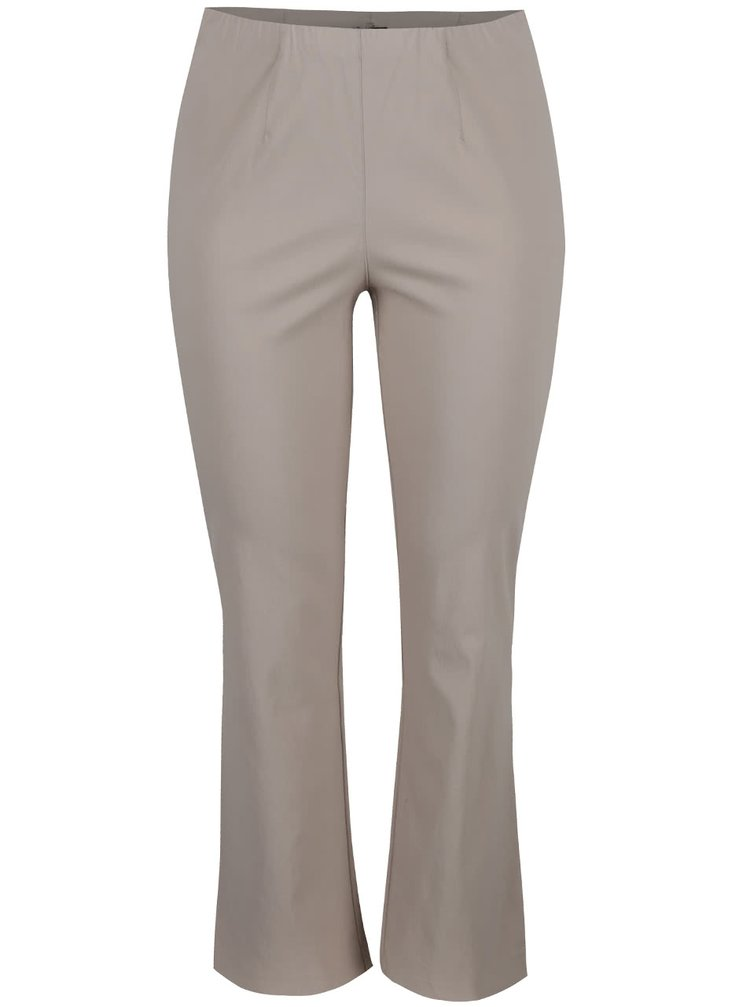 Béžové nohavice s gumou v páse Ulla Popken