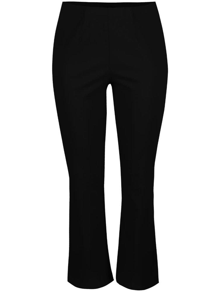 Čierne nohavice s gumou v páse Ulla Popken
